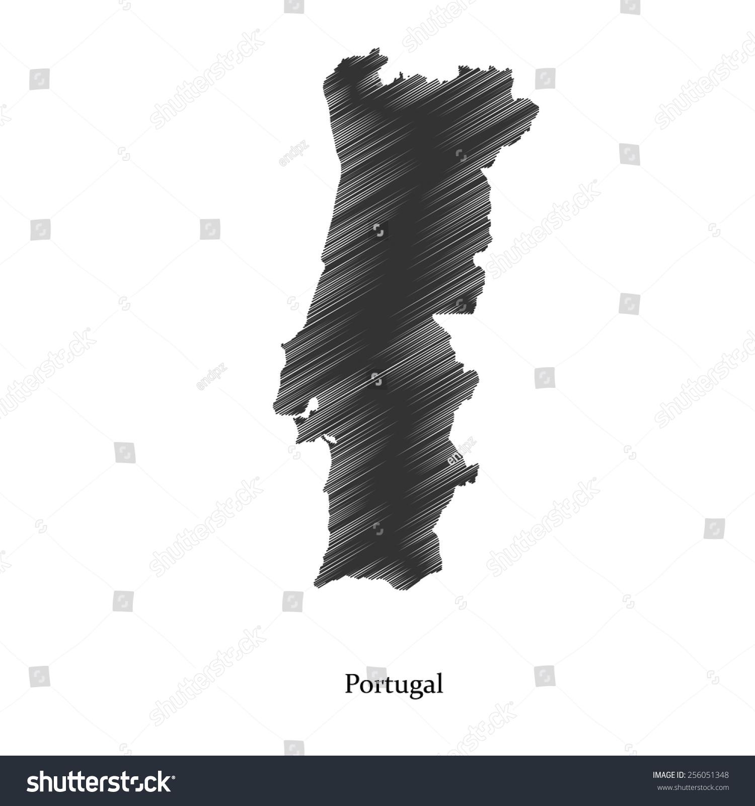 Portugal Map Icon Your Design Concept Stock Vector - Portugal map icon