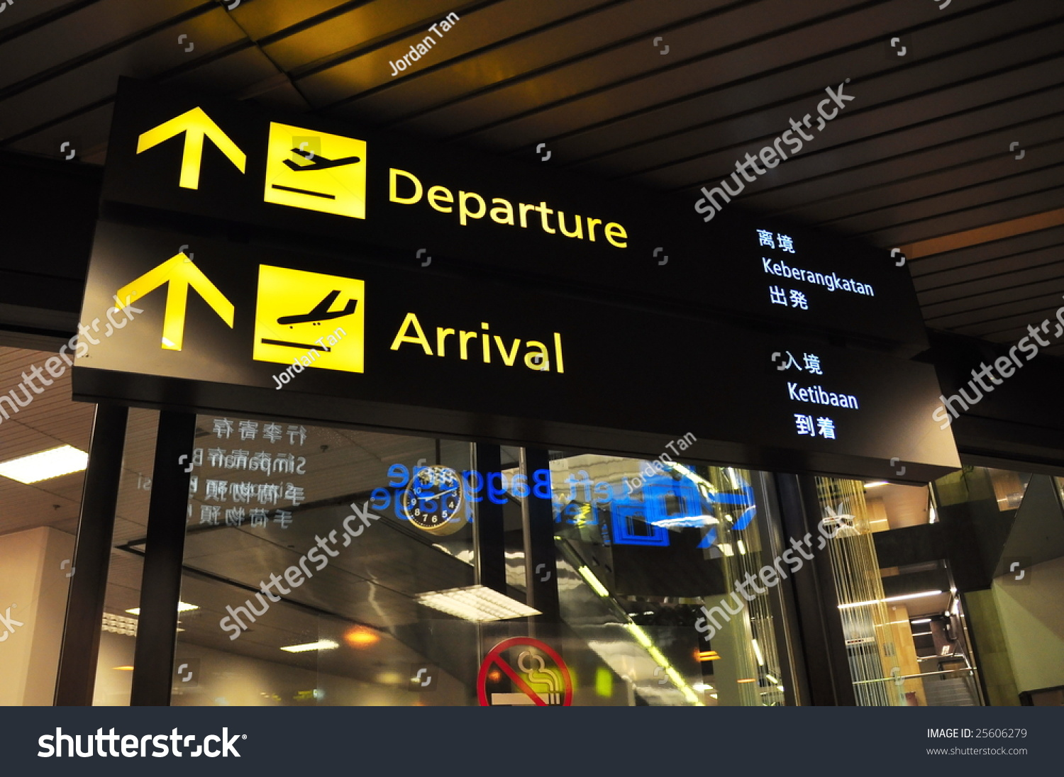 Departure Arrival Signage Airport Multiple Languages Stock Photo Edit Now 25606279