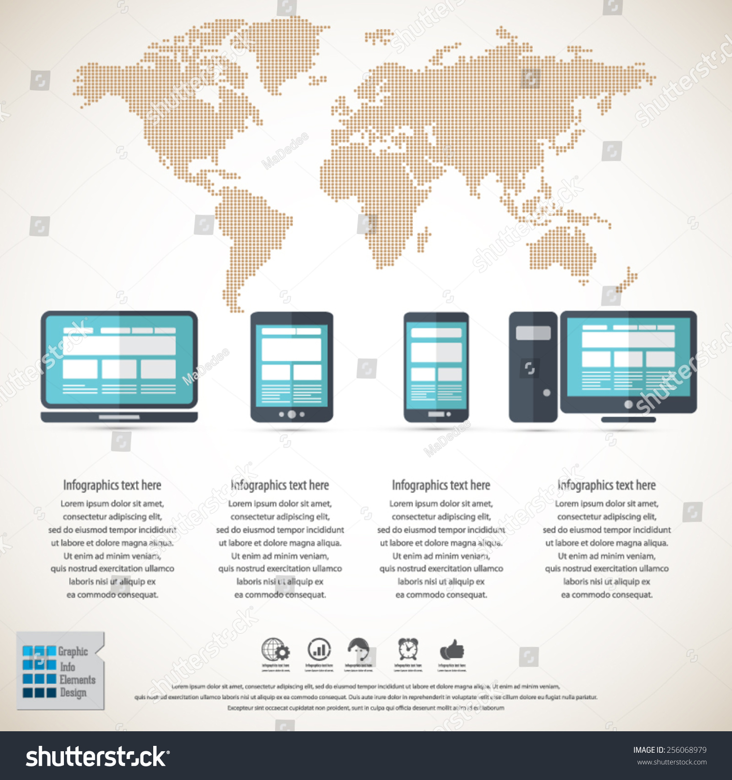 Responsive web design on different devices stock vector 256068979 responsive web design on different devices stock vector 256068979 shutterstock gumiabroncs Images