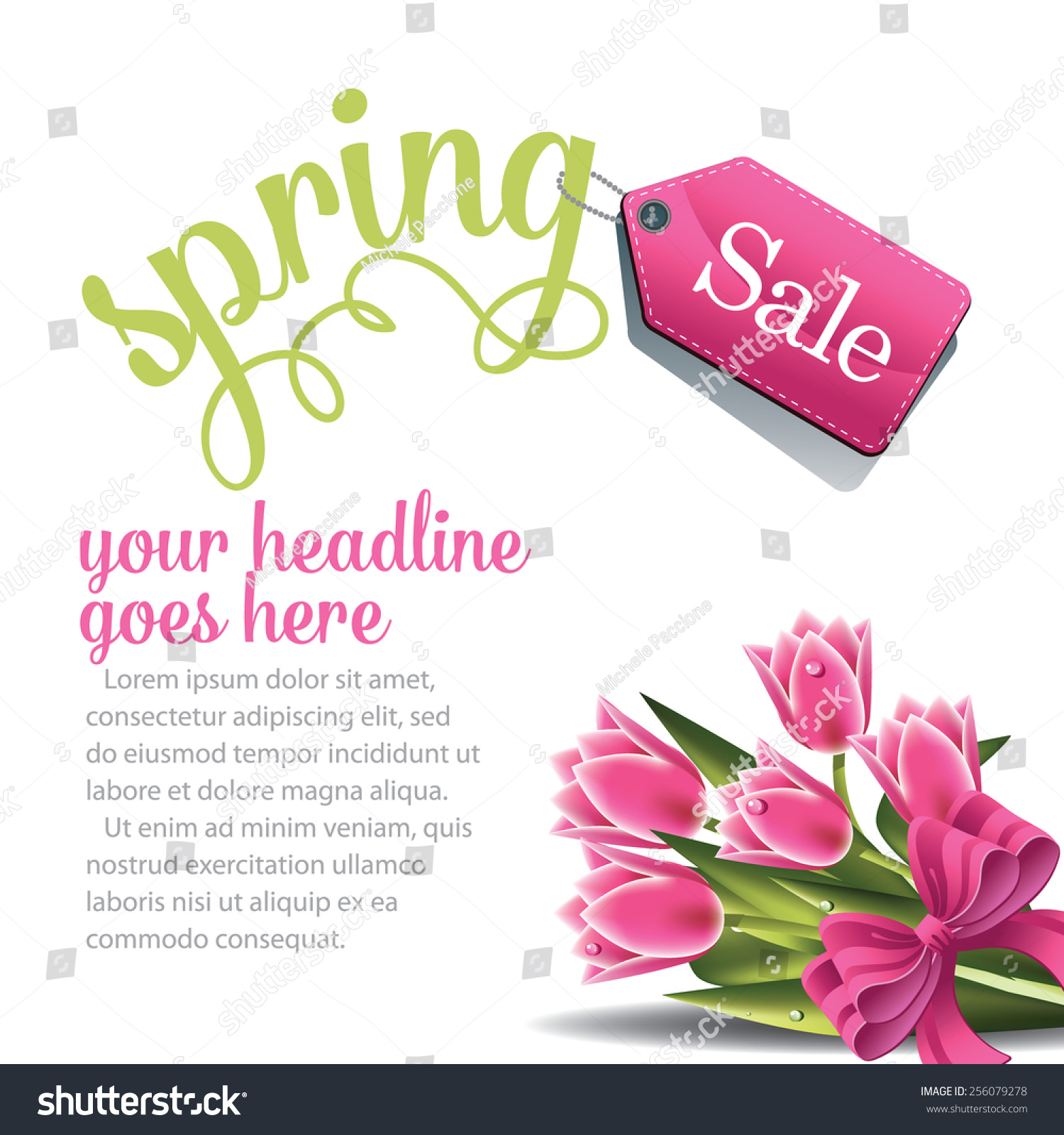 spring advertising background template royalty stock spring advertising background template royalty stock illustration for greeting card ad promotion