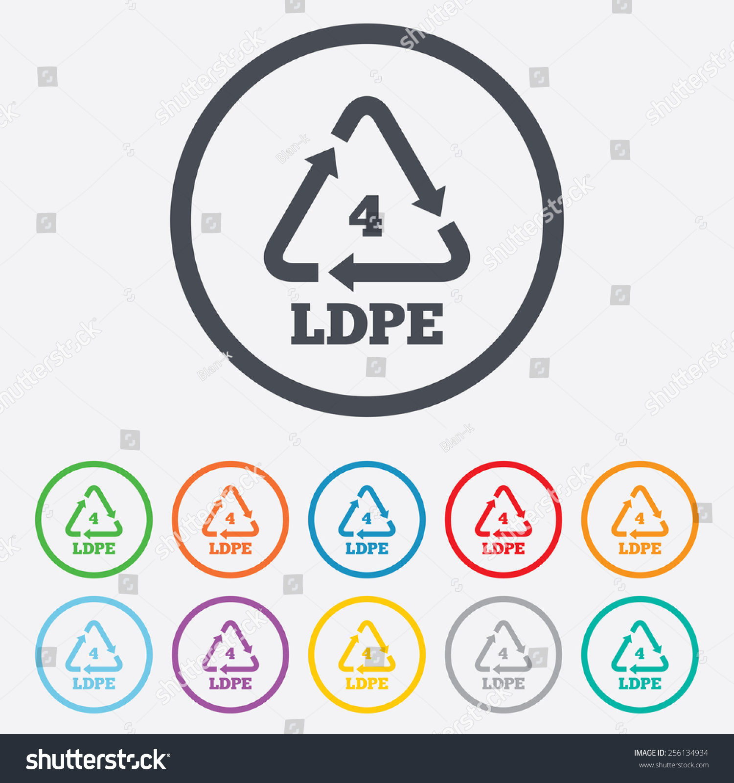Ldpe 4 icon lowdensity polyethylene sign stock vector 256134934 ld pe 4 icon low density polyethylene sign recycling symbol round biocorpaavc Choice Image