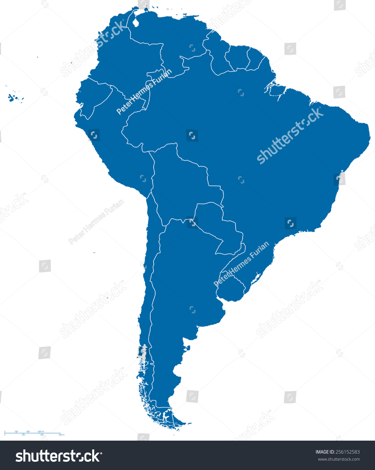 All America Map.Political Map South America All Countries Stock Vector Royalty Free