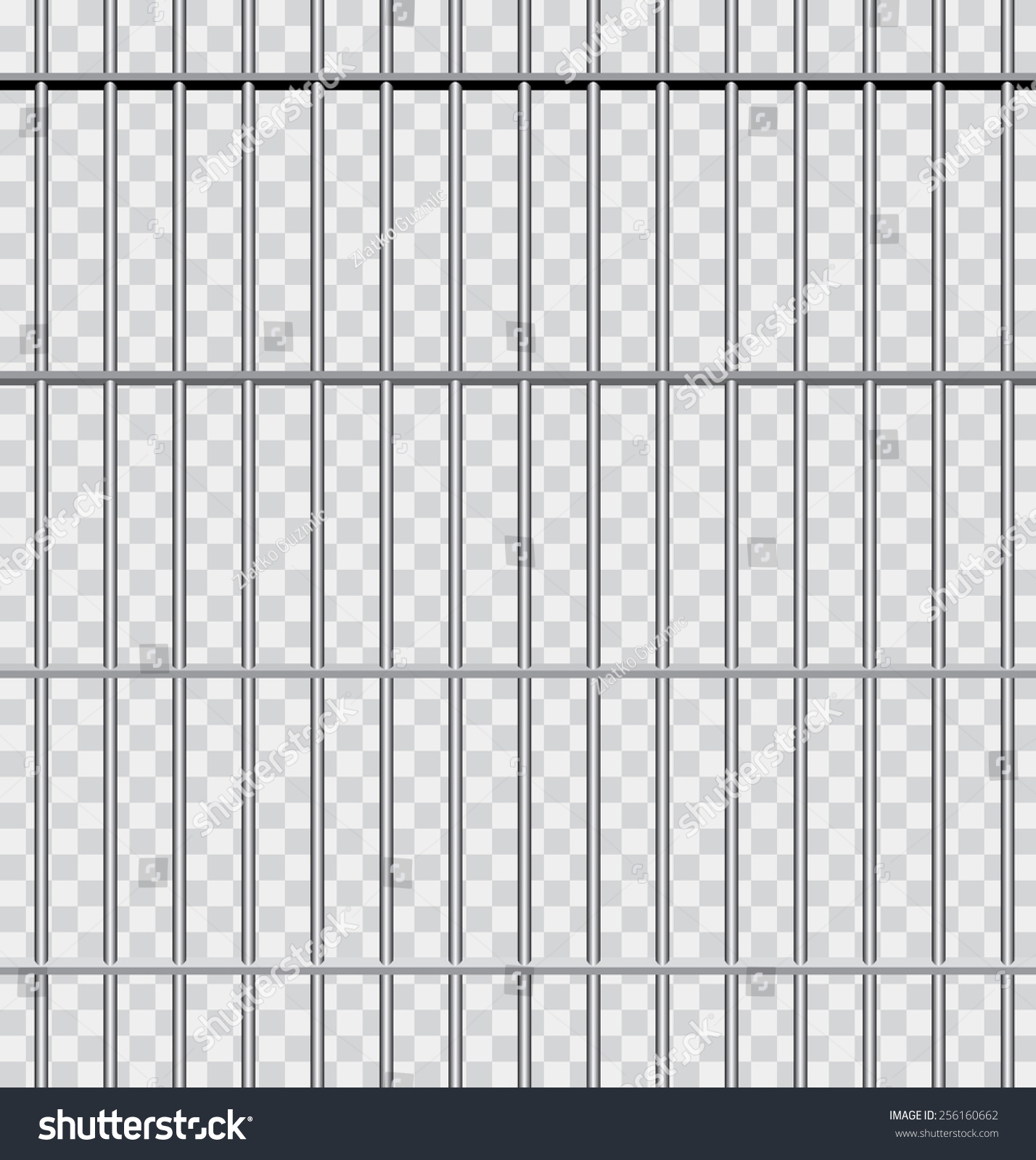 Vector Background Jail Bars Stock Vector 256160662