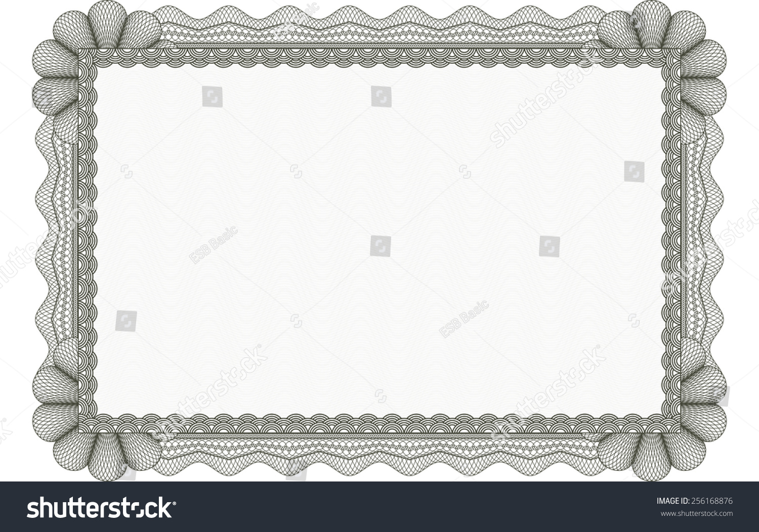 Green horizontal certificate template complex frame stock vector green horizontal certificate template with complex frame and corner design great quality design vector illustrator yelopaper Gallery