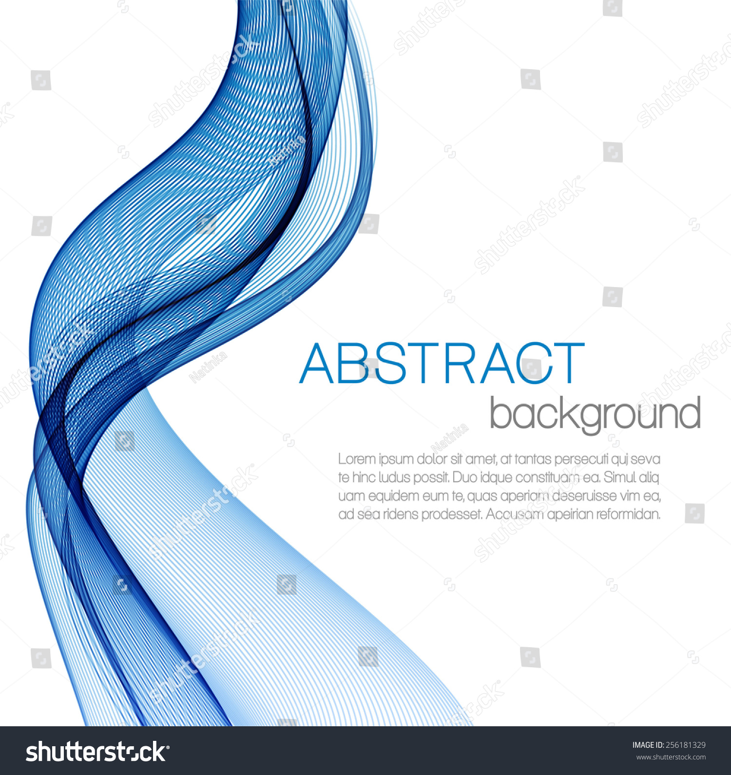 Abstract Background Blue Waves Stock Vector Royalty Free 256181329 Aperio Wiring Diagram With