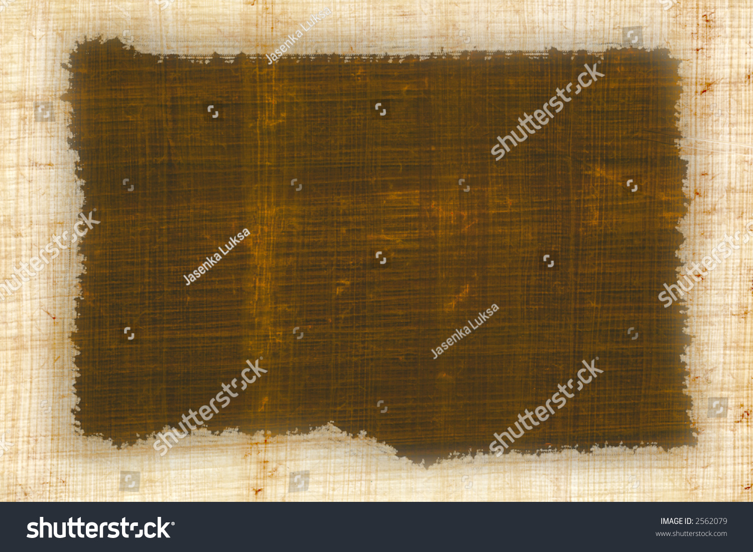 Piece Old Papyrus Like Frame Stock Photo 2562079 - Shutterstock