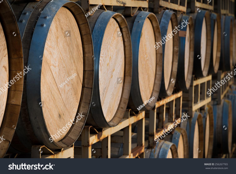 stack wine barrels a stack of wine barrels at a vineyard 256267765 barrel office barrel middot