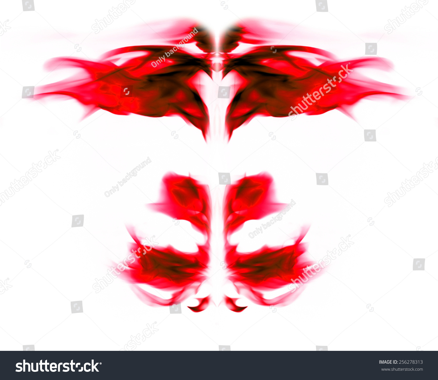 red flame graphics on a white background stock photo