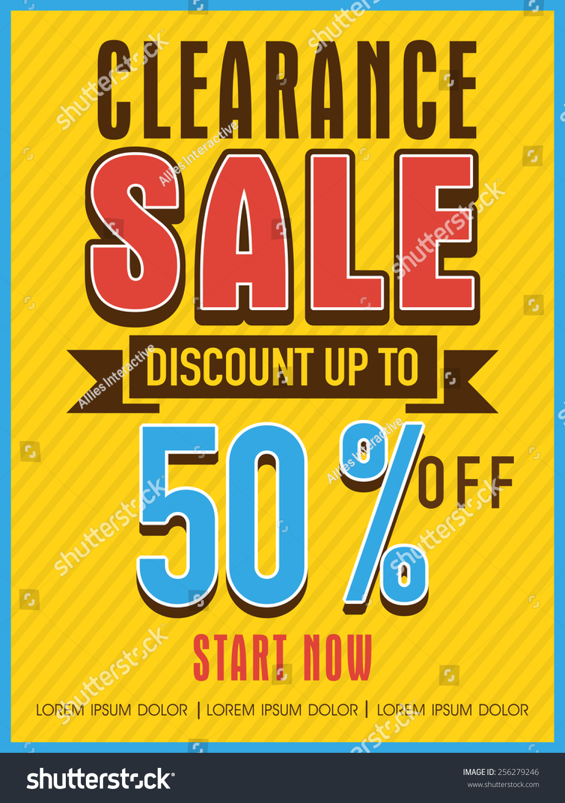 clearance discount offer flyer banner stock vector  clearance discount offer flyer banner or template design for your business