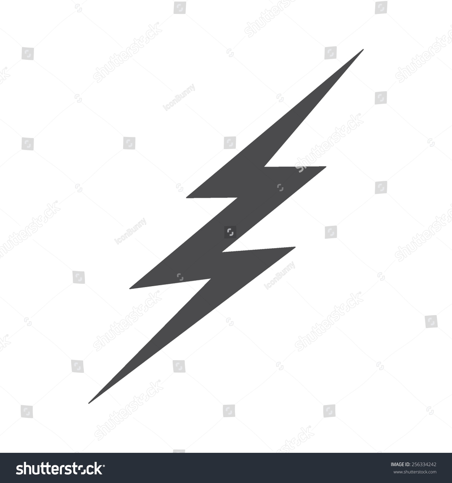 Lightning Bolt Vector Image Be Used Stock Vector 256334242 ... for Vector Lighting Bolt  585ifm