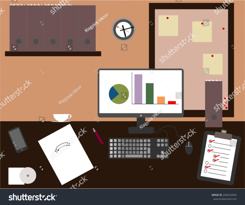 Interior Office Roomvector Illustration Design Stock