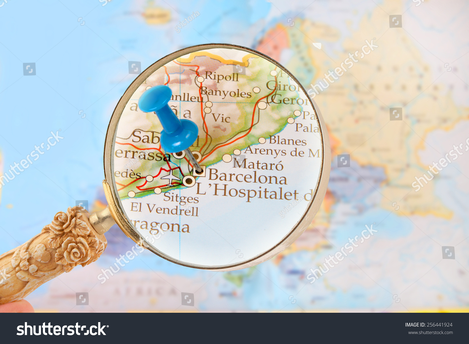 Blue Tack On Map Europe Magnifying Stock Photo (Edit Now ... Map Magnifying Gl on measure map, magnolia map, media map, zoom map, world map, information map, white map, magnetic map, metal map,