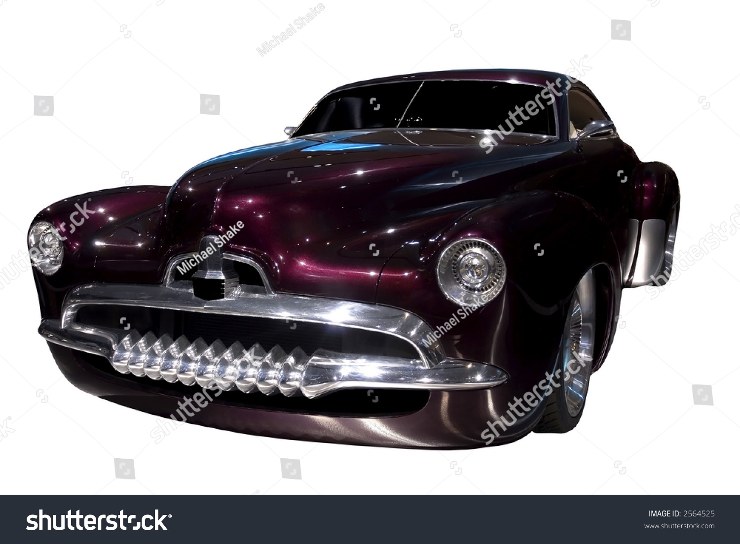 Beautiful Retro Style Concept Car Based Stock Photo (100% Legal ...