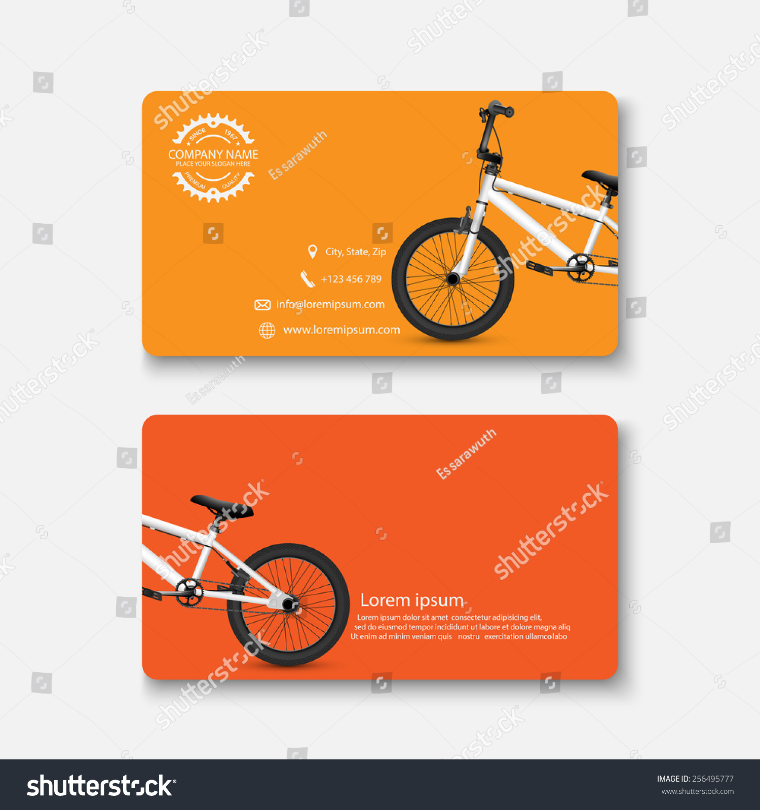 Business Card Bicyclevector Stock Photo (Photo, Vector, Illustration ...