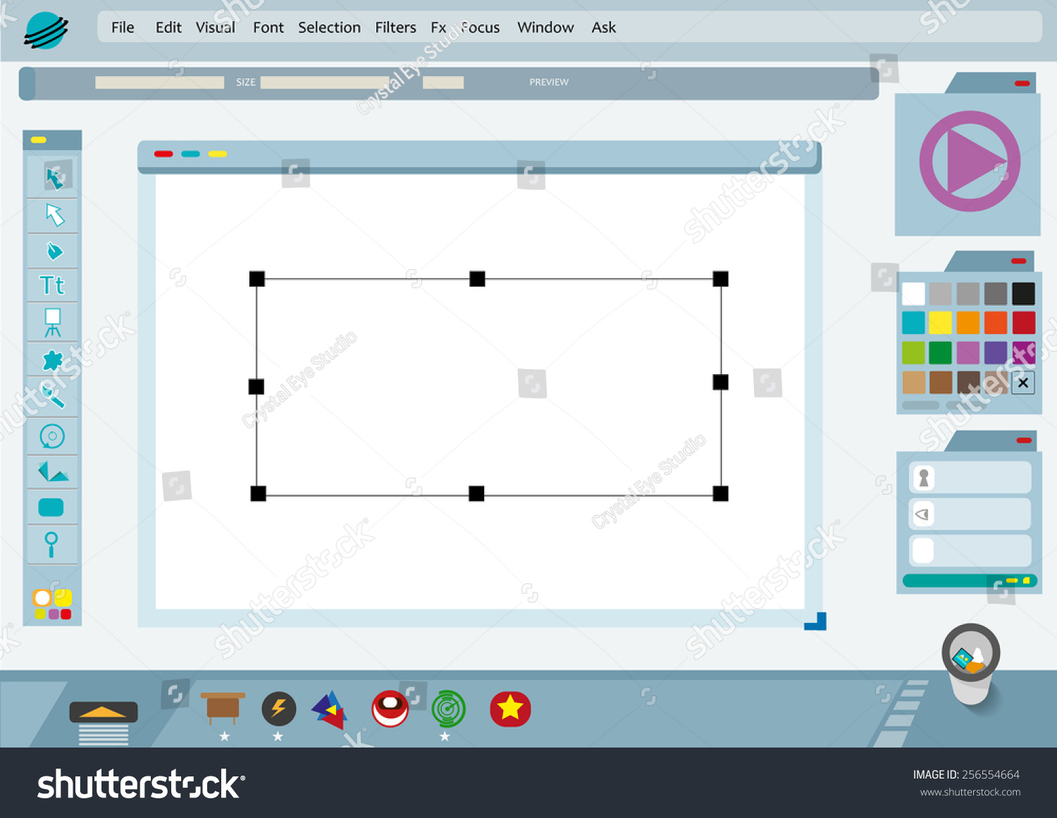 Graphical User Interface Gui Imagined Photo Stock Vector