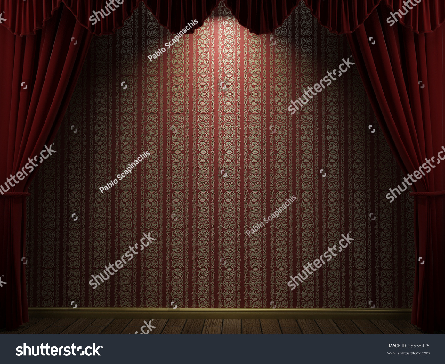 Open theater drapes or stage curtains royalty free stock image image -  Open Theatre Curtains Showing A Red And Golden Wallpaper Preview Save To A Lightbox