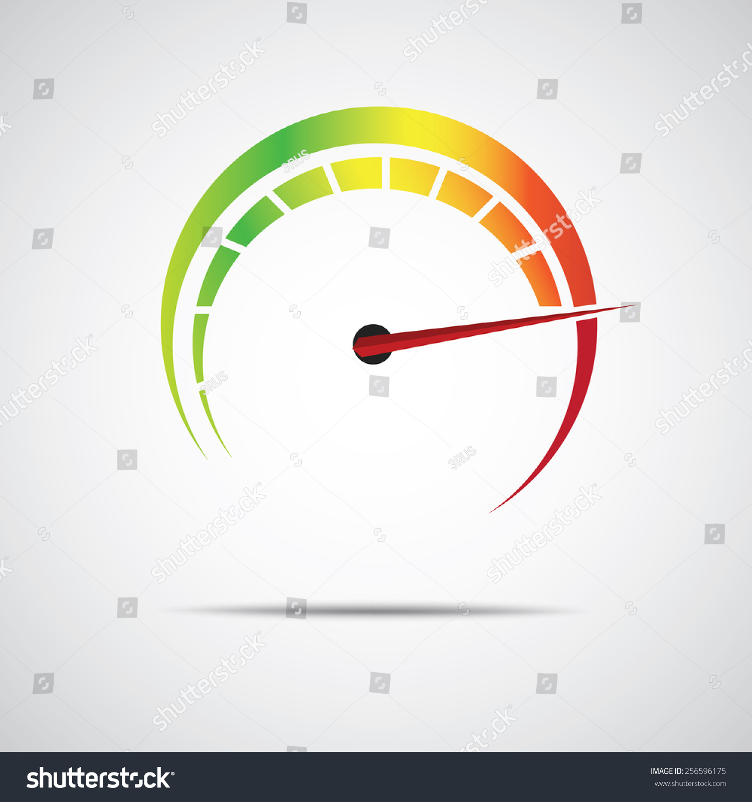 speed meter icon stock vector (royalty free) 256596175 shutterstock