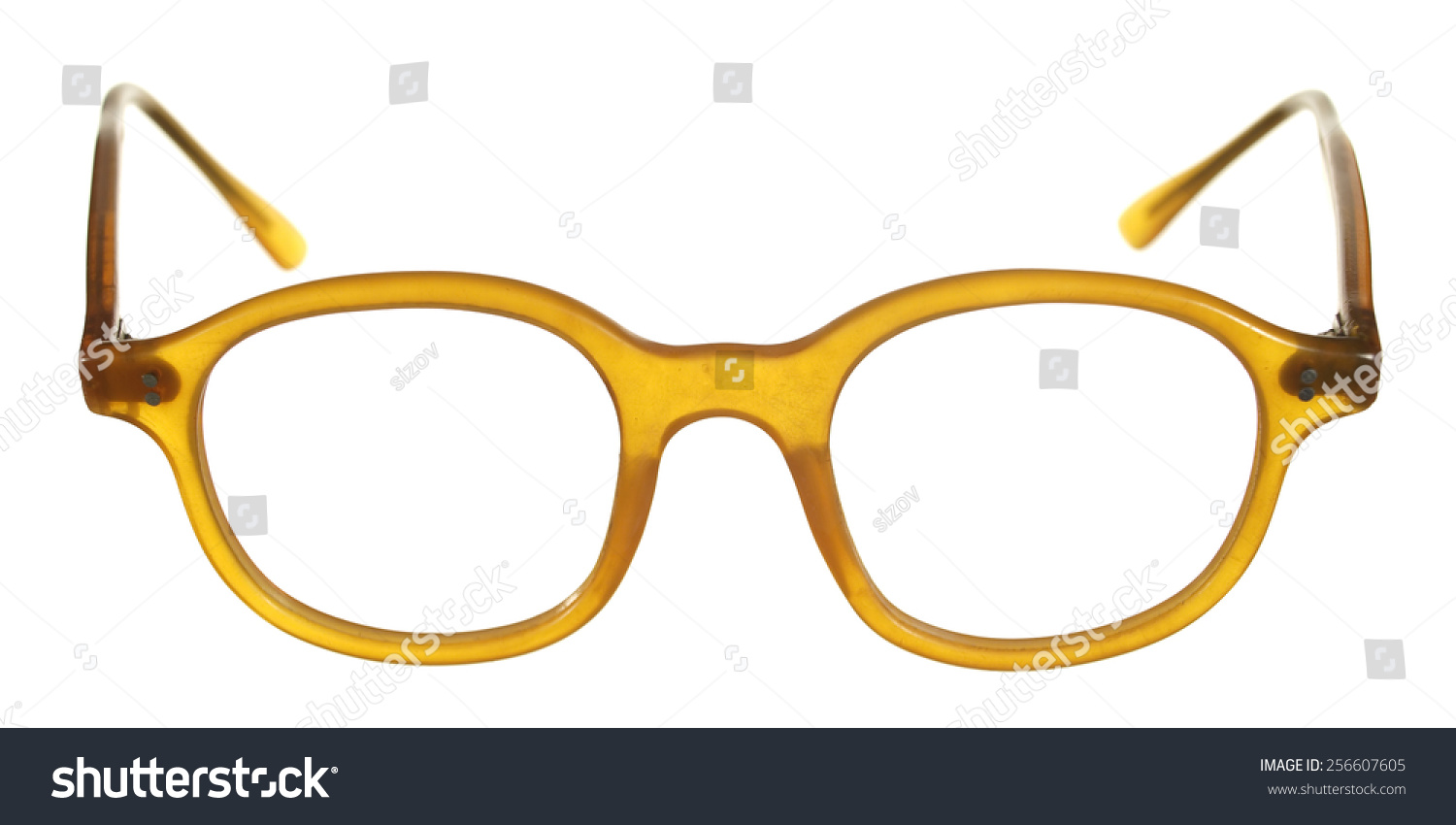 Old Fashioned Glasses Frame : Old-Fashioned Glasses Frame Of Plastic Isolated On White ...