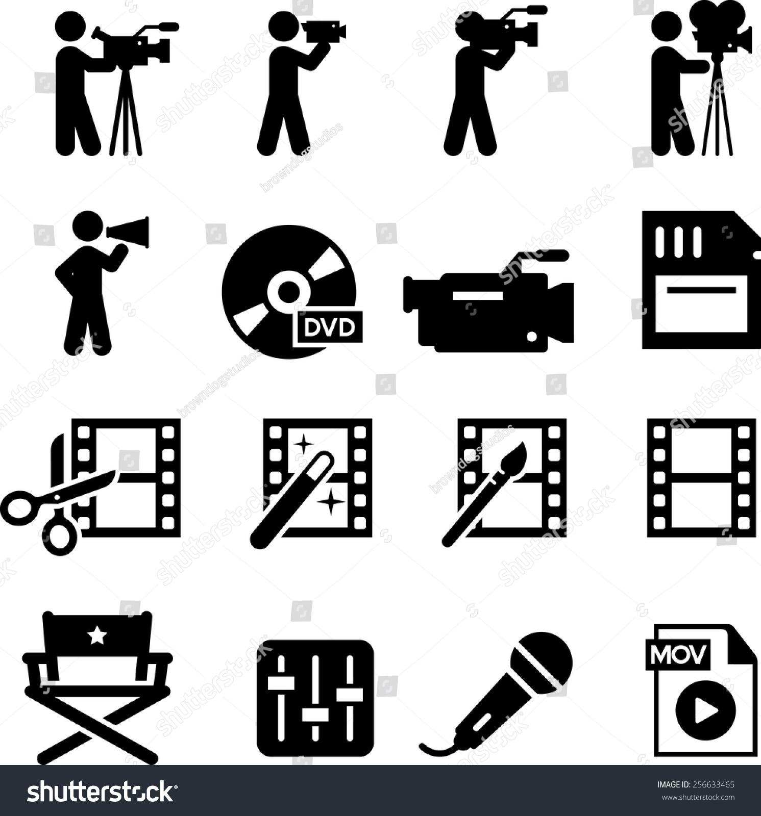 Film Production Vector Images