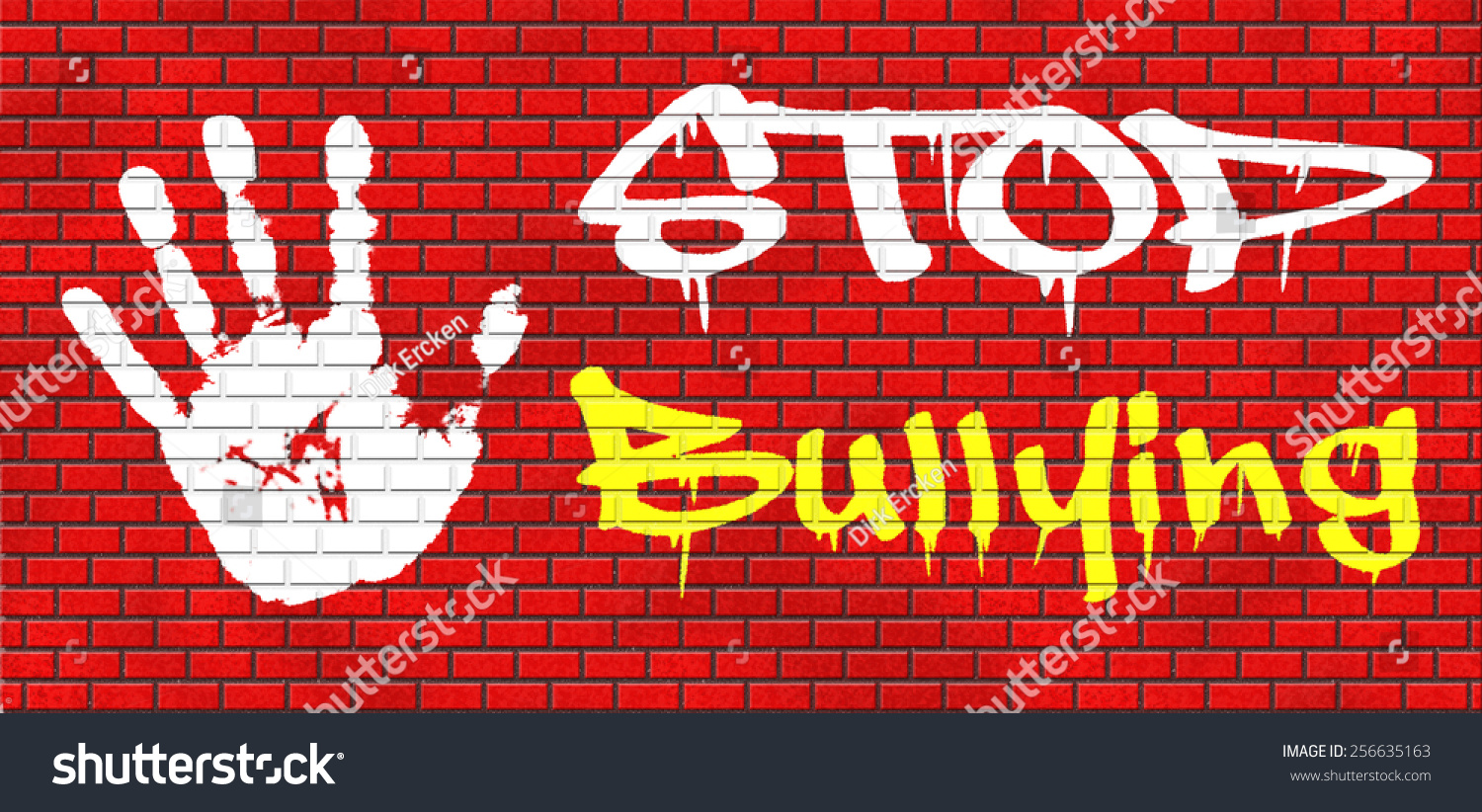 Graffiti wall text - Stop Bullying Graffiti No Bullies Prevention Against School Work Or In The Cyber Internet Harassment Graffiti