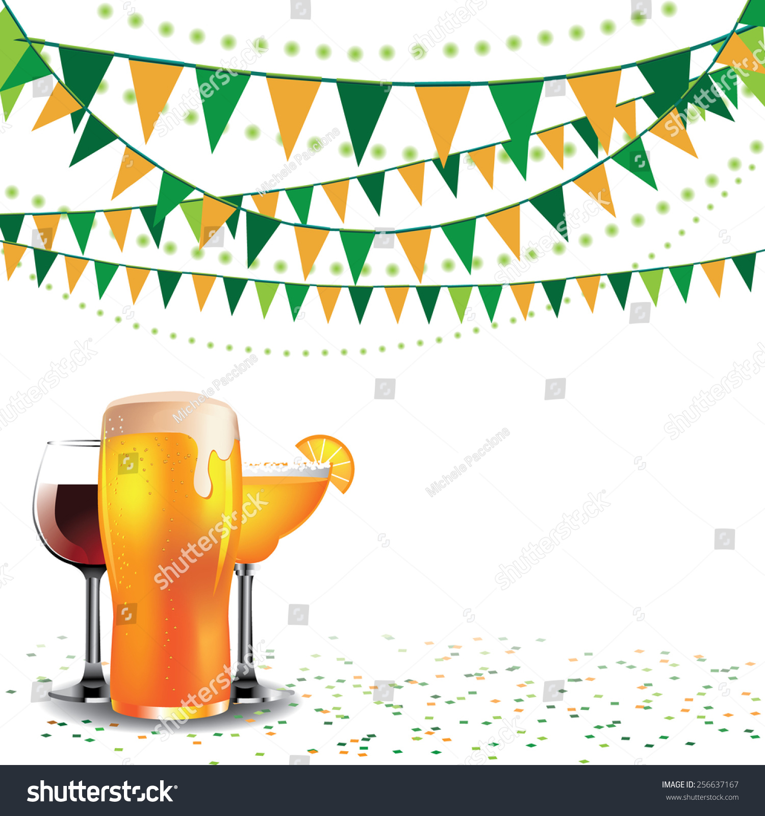 happy hour drinks bunting background ads stock vector 256637167 happy hour drinks bunting background for ads flier signage promotion greeting card