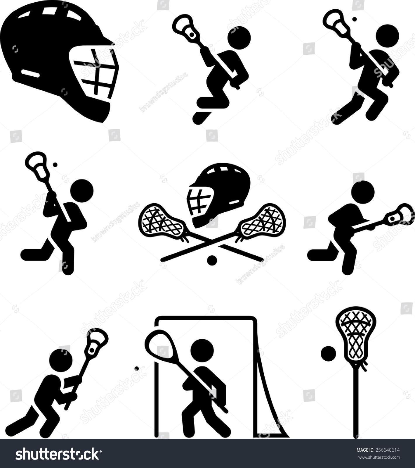 lacrosse icon set vector icons digital stock vector 256640614