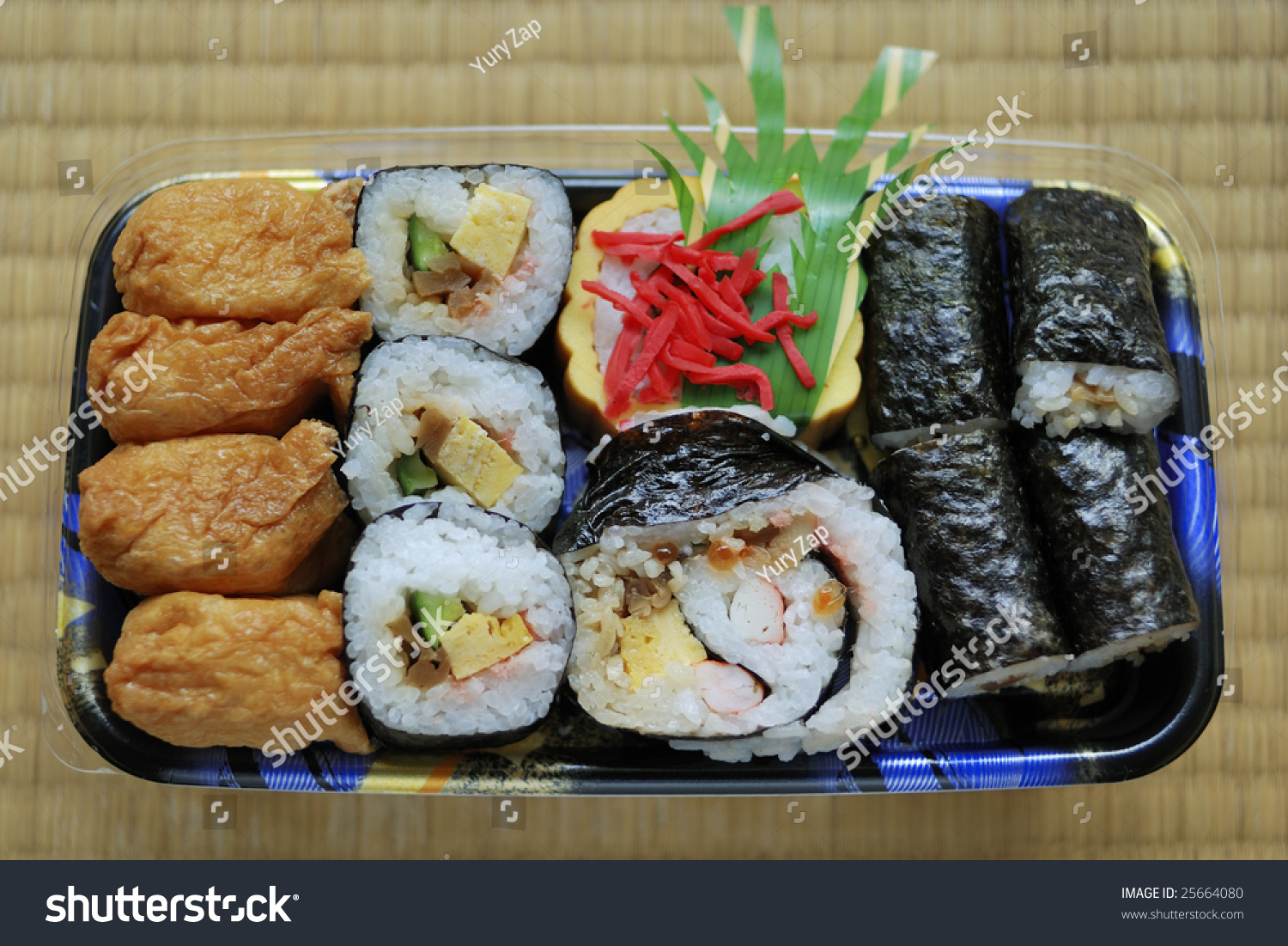 traditional japanese lunch box called obento stock photo 25664080 shutterstock. Black Bedroom Furniture Sets. Home Design Ideas