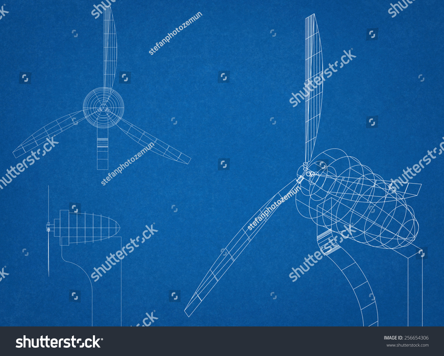 Wind Turbine Electrical Diagram Blueprint Stock Illustration 256654306 Shutterstock