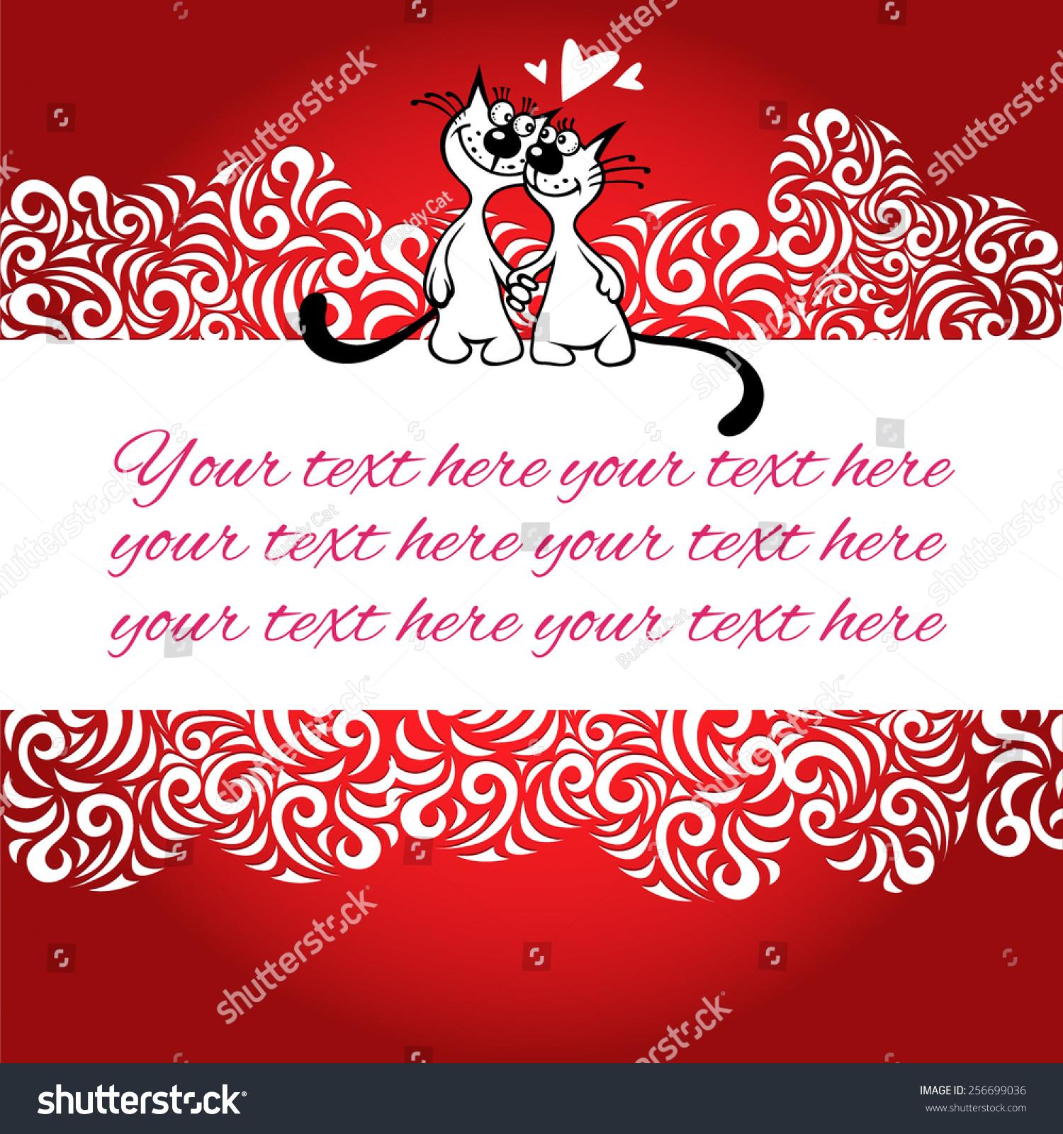 Wedding Invitation Cat Rendezvous Stock Vector 256699036 - Shutterstock