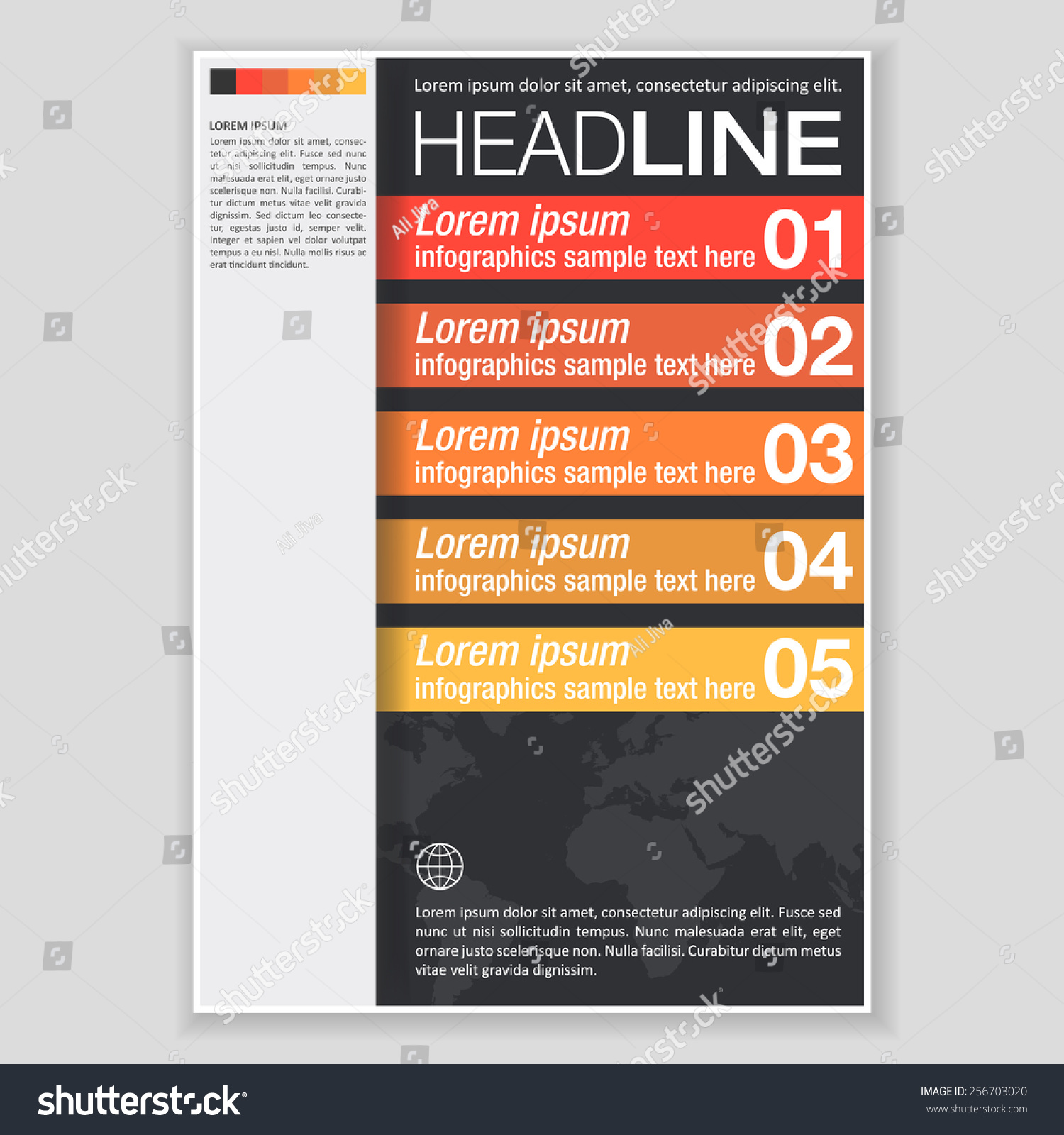 Creative Brochure Template Design Abstract Vector Vector – Pamphlet Layout Template
