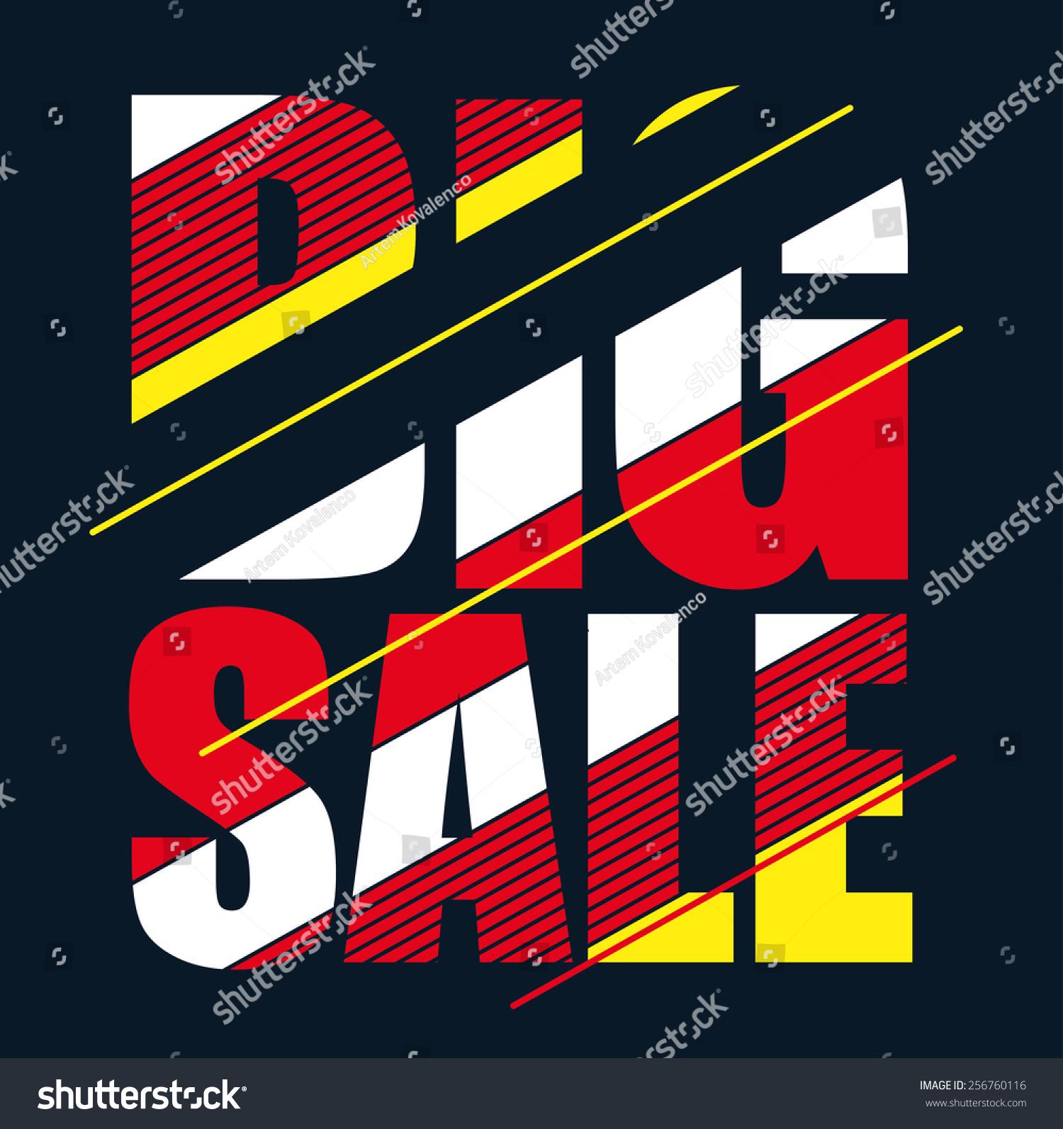 Vector illustration big sale graphics tshirt stock vector for T shirt graphics for sale