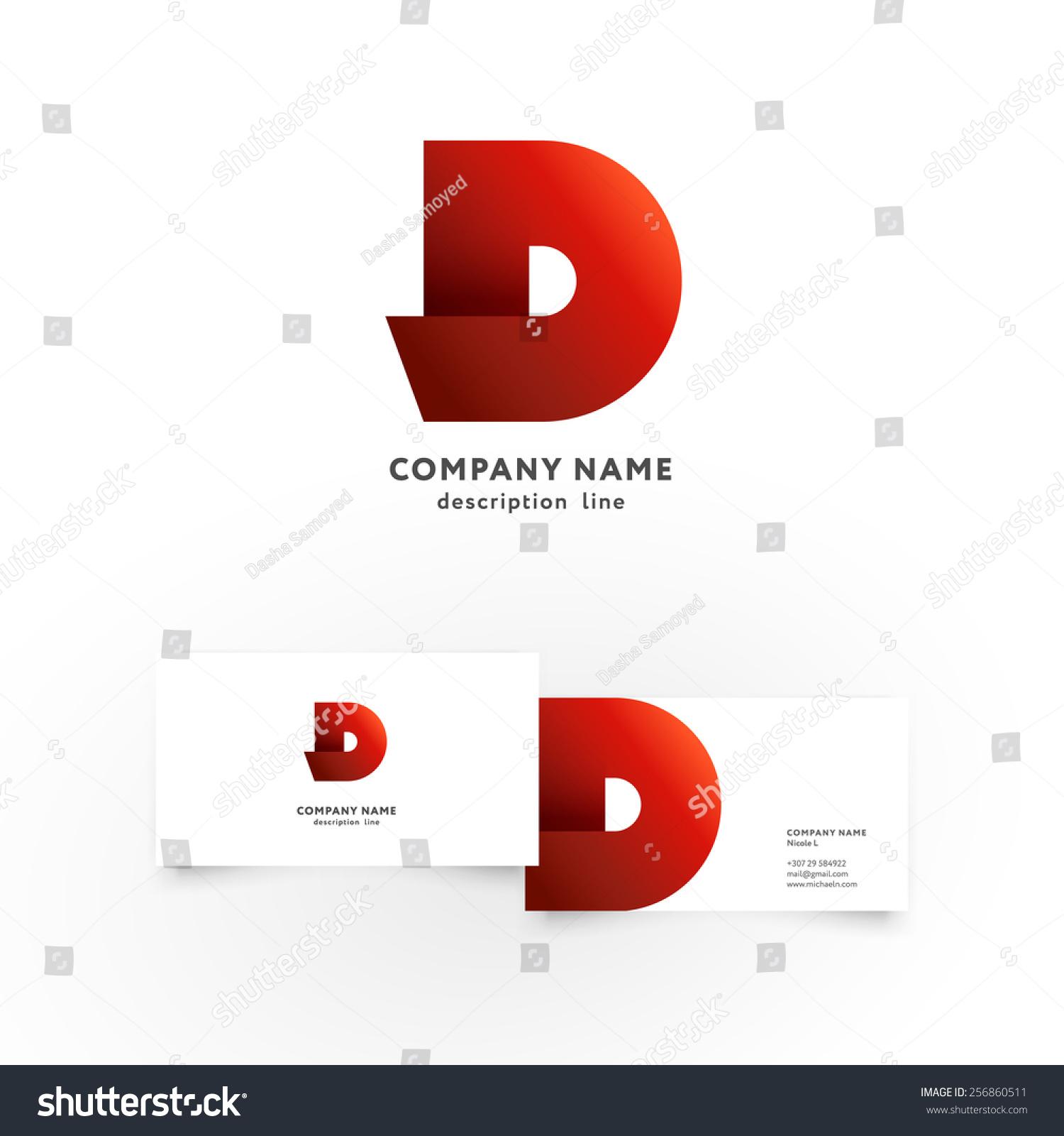Modern Icon Design D Letter Shape Stock Vector 256860511 - Shutterstock