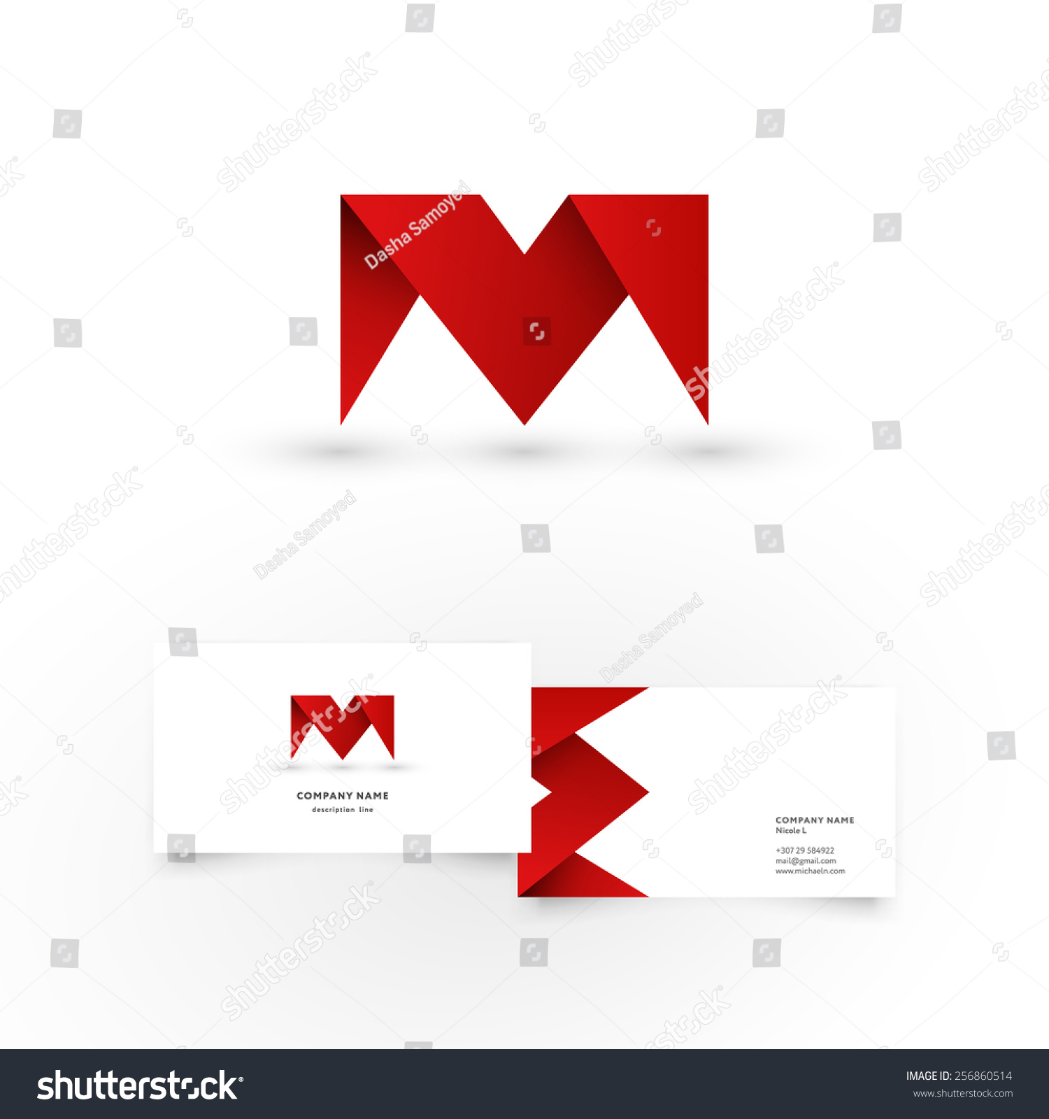 modern icon design m letter shape stock vector