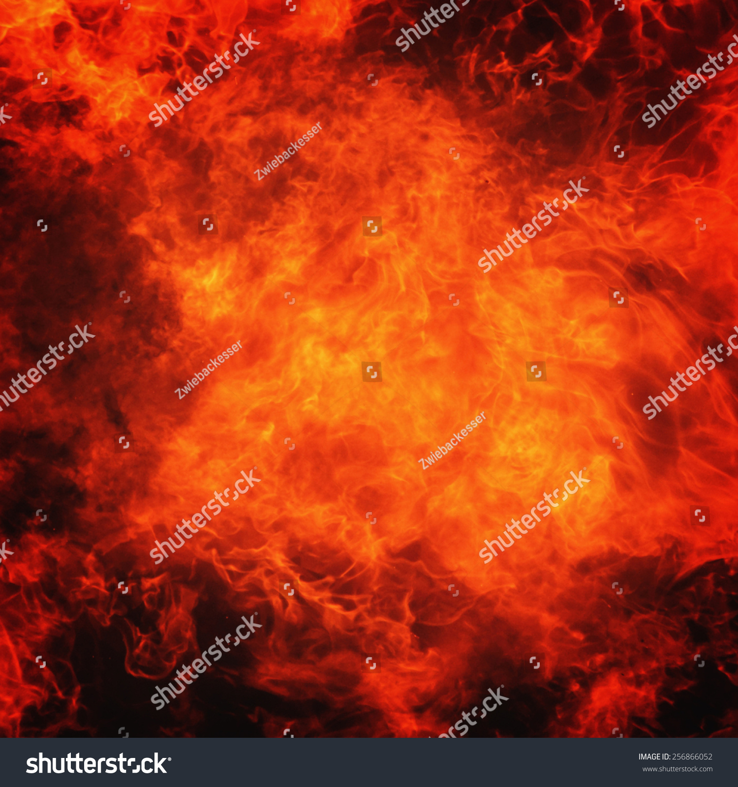 Background Of Fire As A Symbol Of Hell And Eternal Torment Ez Canvas