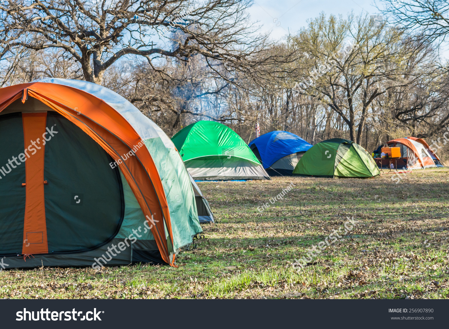 Tents pitched at Dinosaur Valley State Park & Tents Pitched Dinosaur Valley State Park Stock Photo 256907890 ...