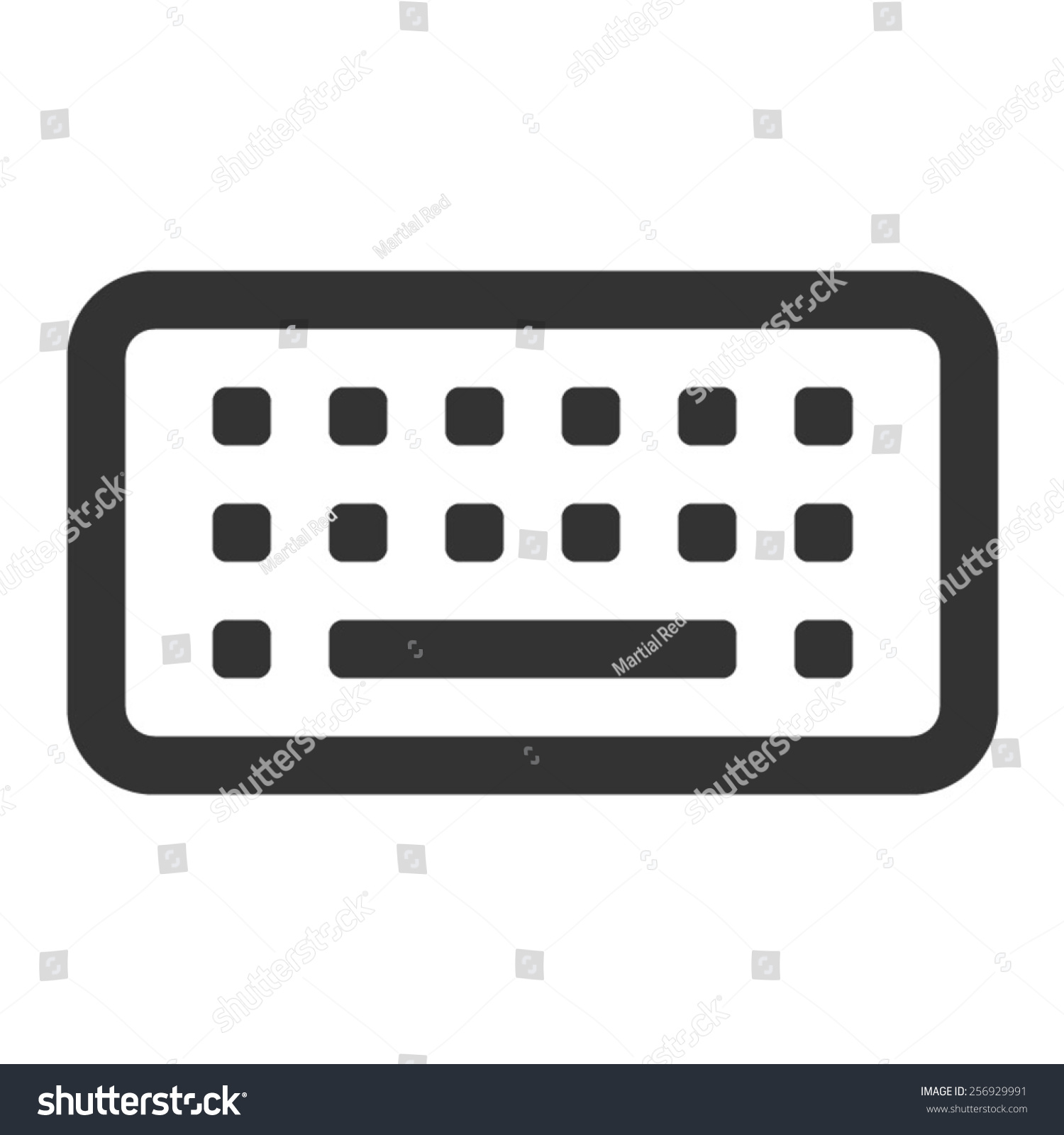 Line Art Keyboard : Virtual touch screen keyboard line art stock vector