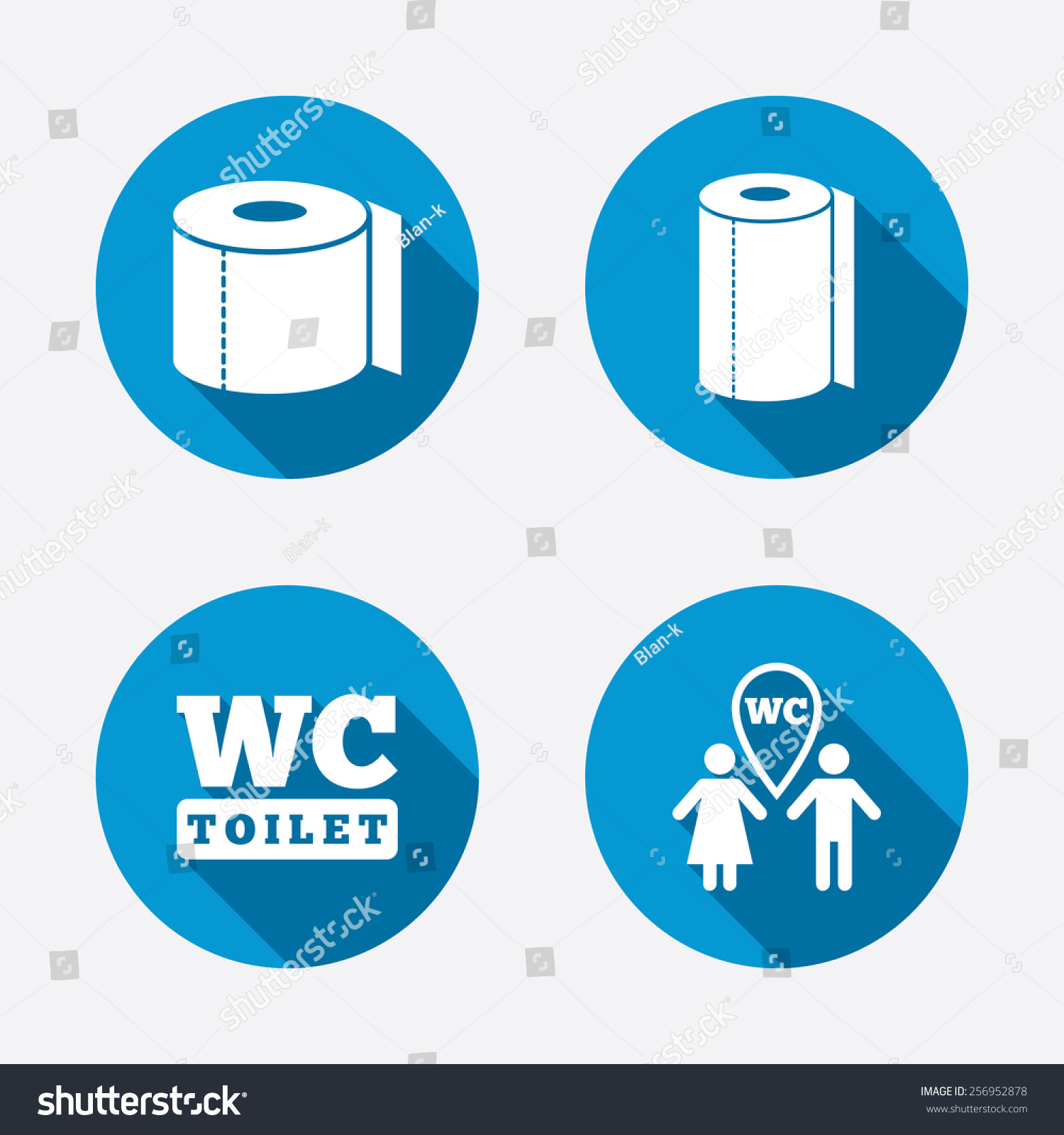 Toilet Paper Icons Gents Ladies Room Stock Vector (Royalty Free ...