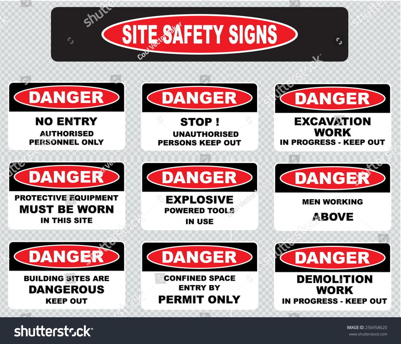 Stock Vector Various Danger