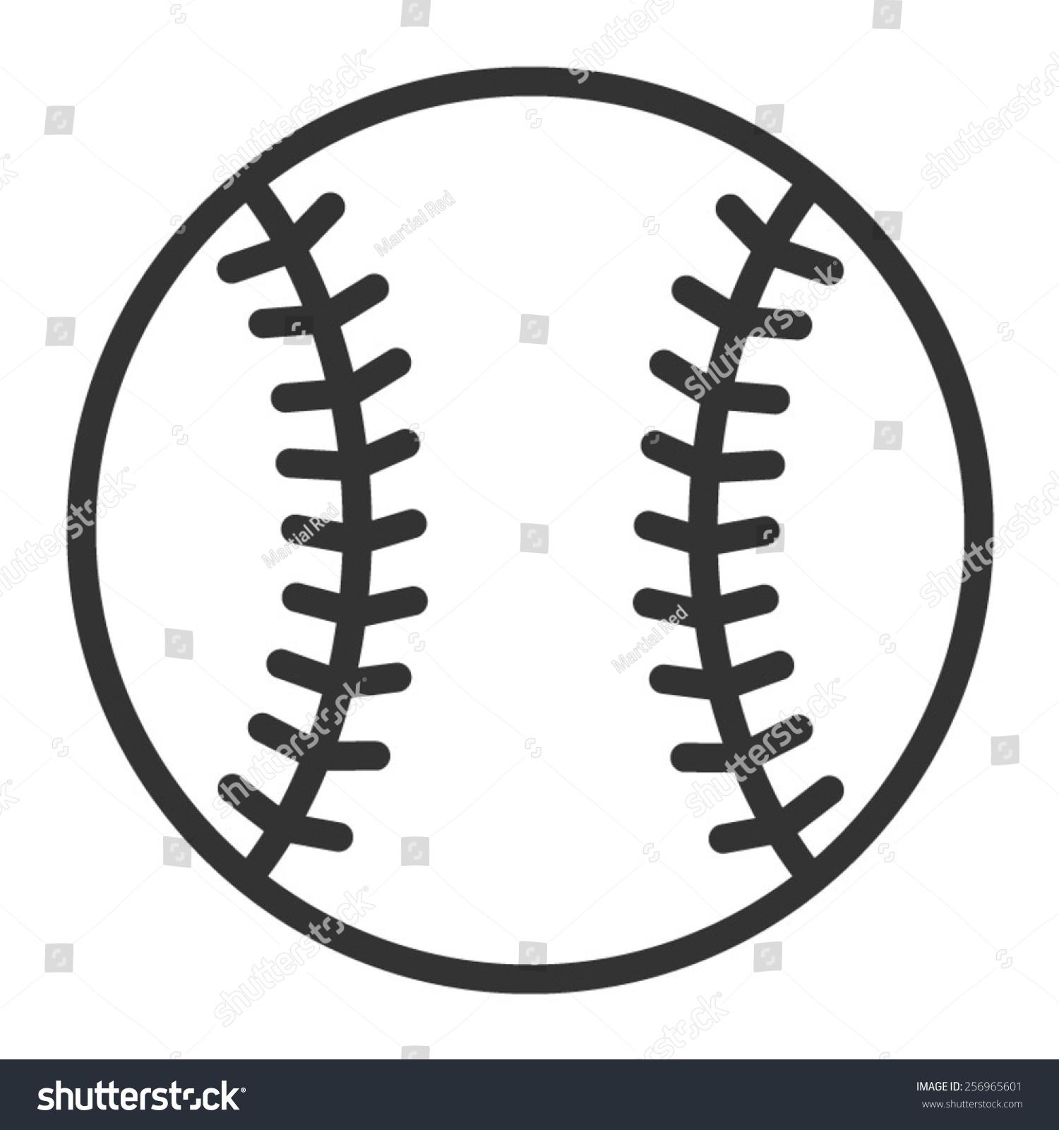 Baseball Baseball Homerun Line Art Icon Stock Vector 256965601 ...