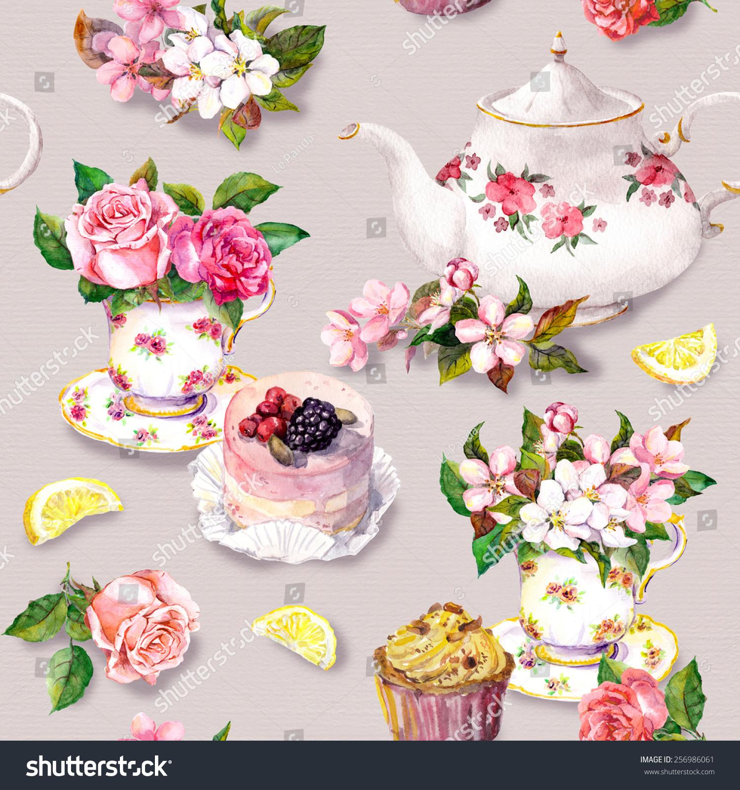 vintage tea cup wallpaper - photo #15