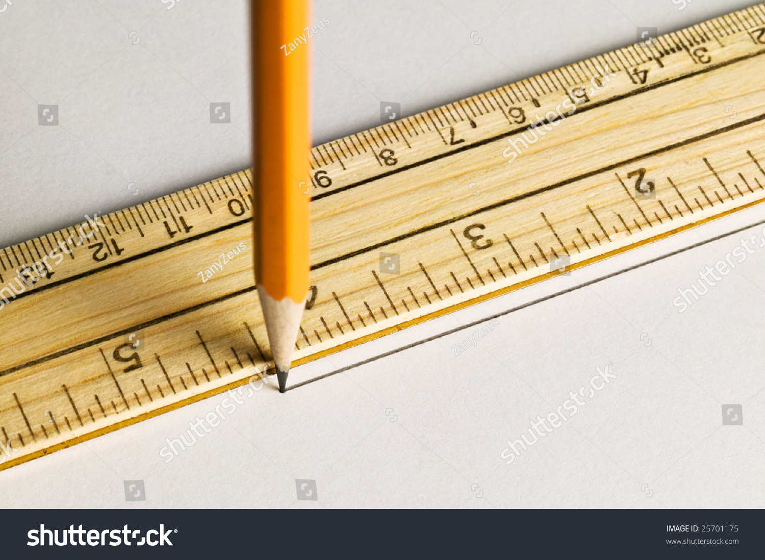 Drawing Lines With A Ruler Ks : Pencil drawing a straight line with ruler stock photo