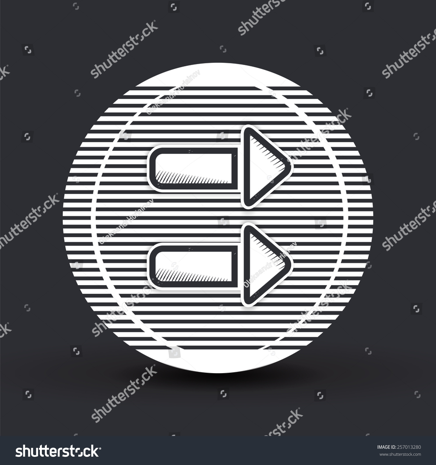 Two Arrows Icon Direction Arrow Right Stock Vector Royalty Free