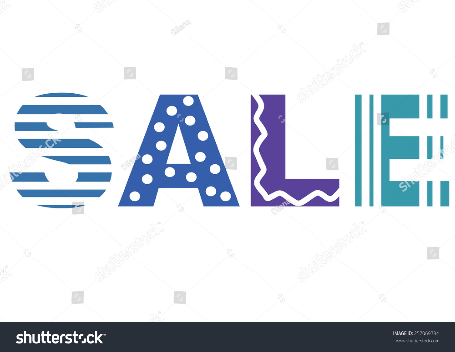 Word Sale Spelling Each Letter Other Stock Illustration Royalty