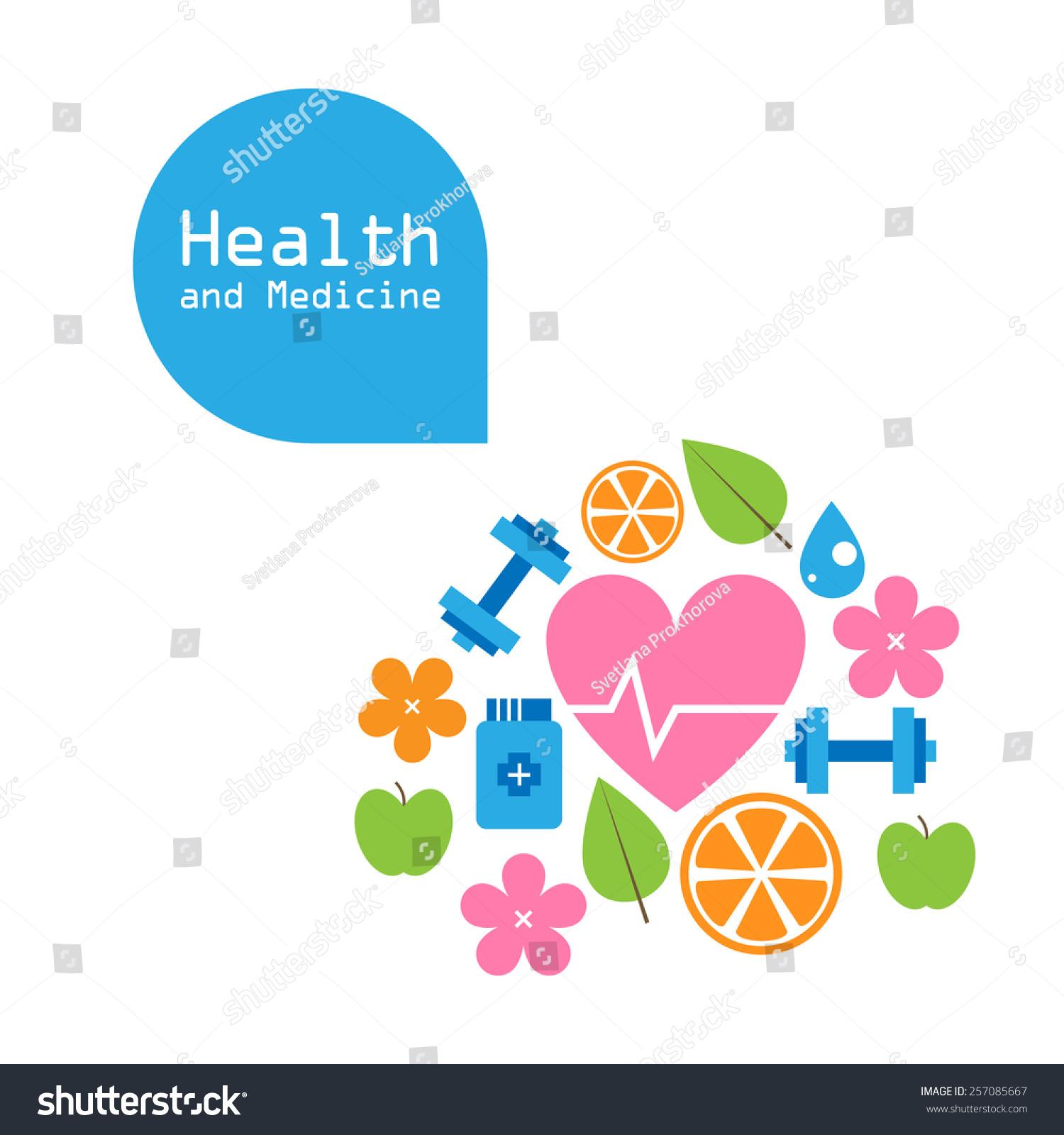 Vector Health Medicine Background Card Poster Stock Vector ...