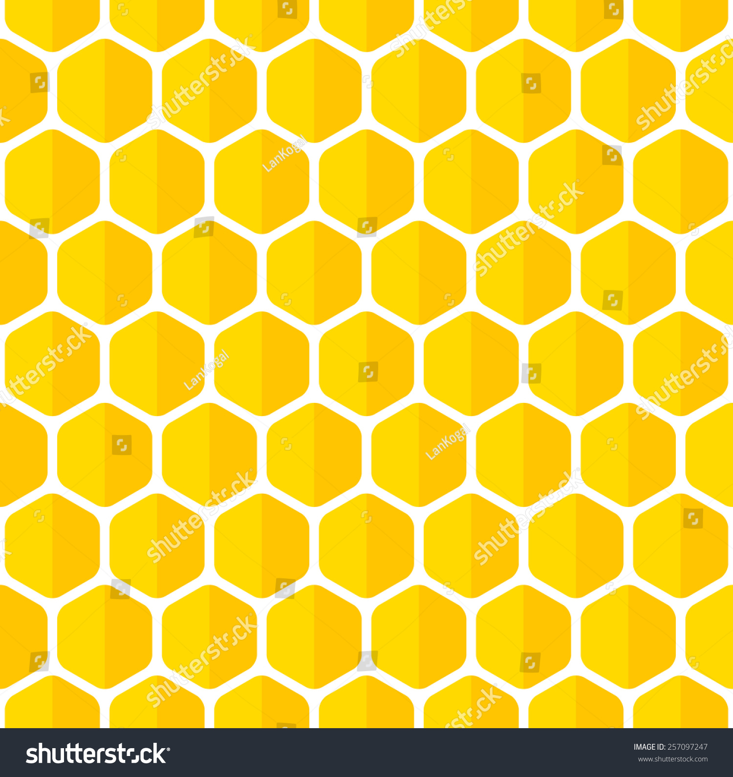 Beautiful Honeycomb Seamless Background Abstract Vector