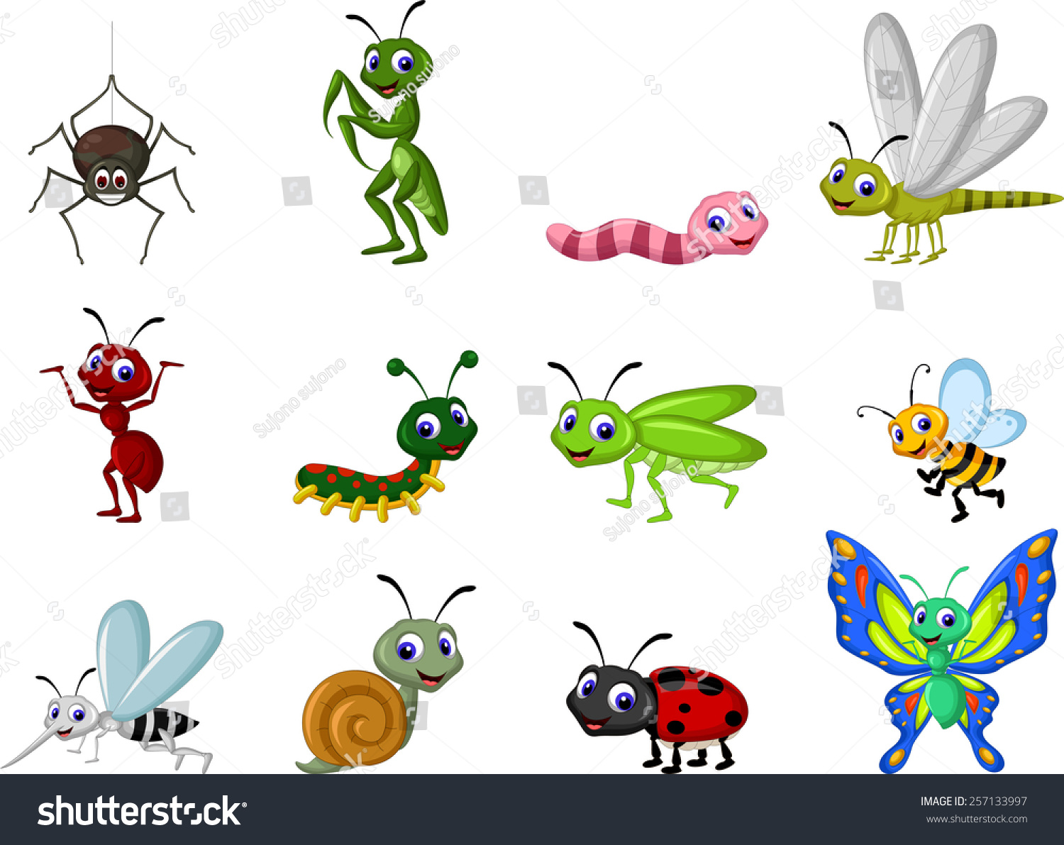 cartoon insect clipart - photo #42