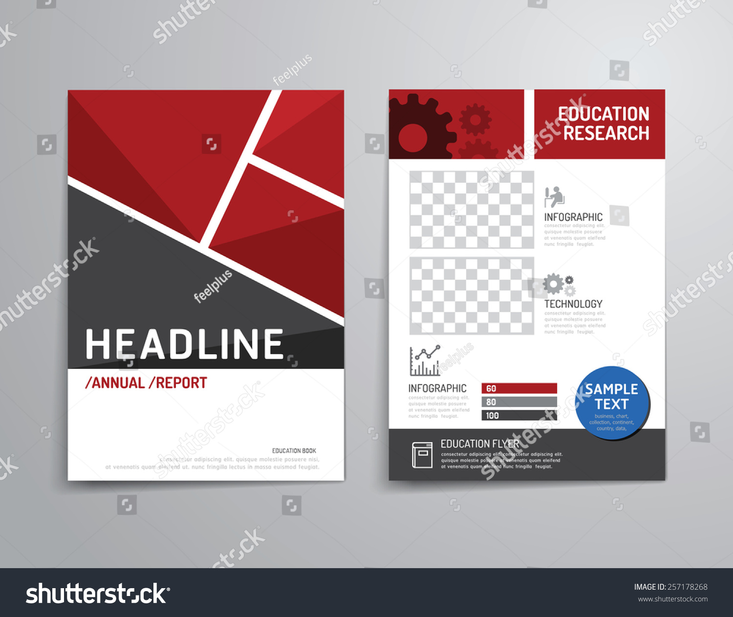 Vector brochure flyer magazine cover booklet stock vector for Brochure design templates for education