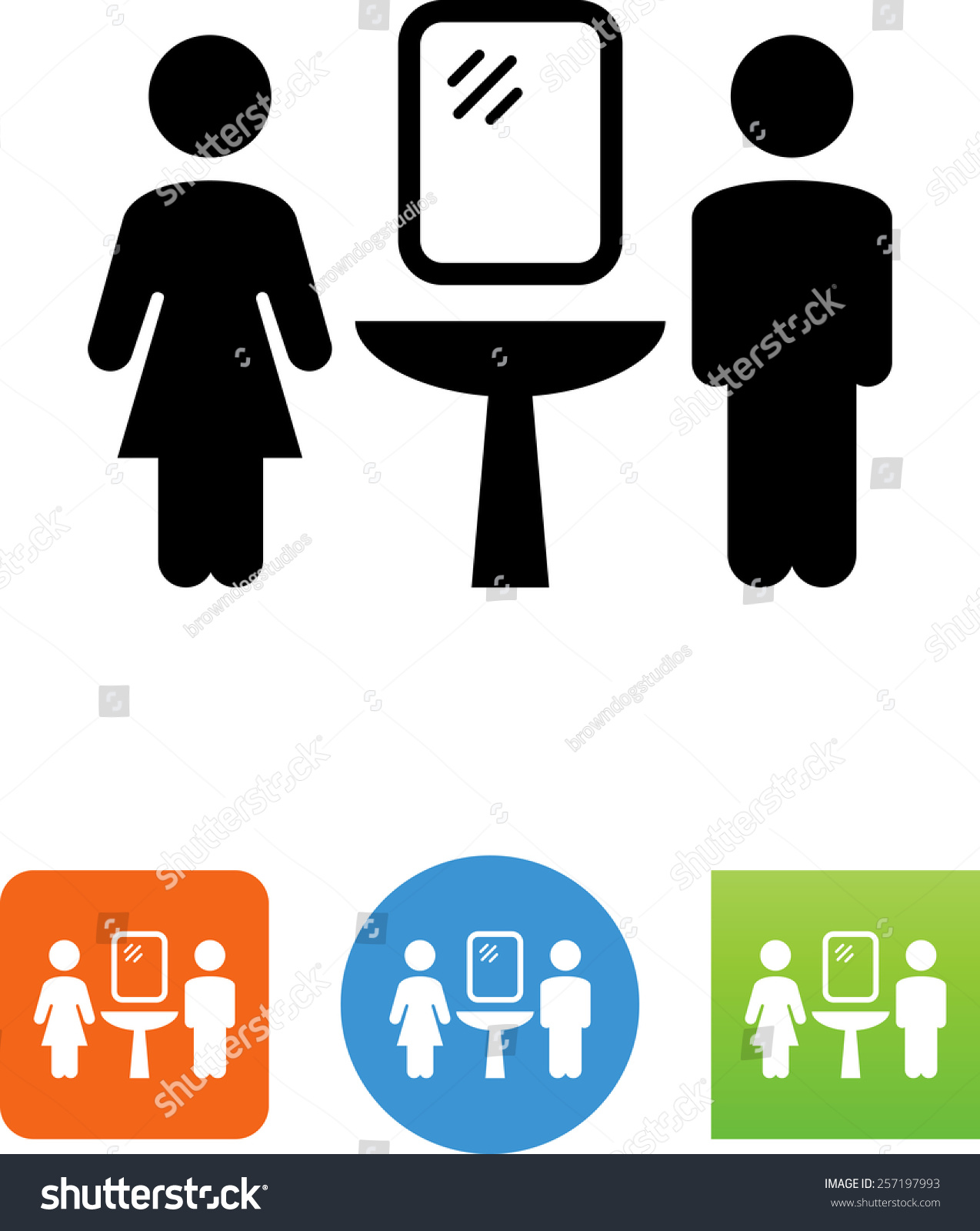 men s bathroom sign vector. Men\u0027s And Women\u0027s Bathroom Symbol. Vector Icons For Video, Mobile Apps, Web Sites Men S Sign