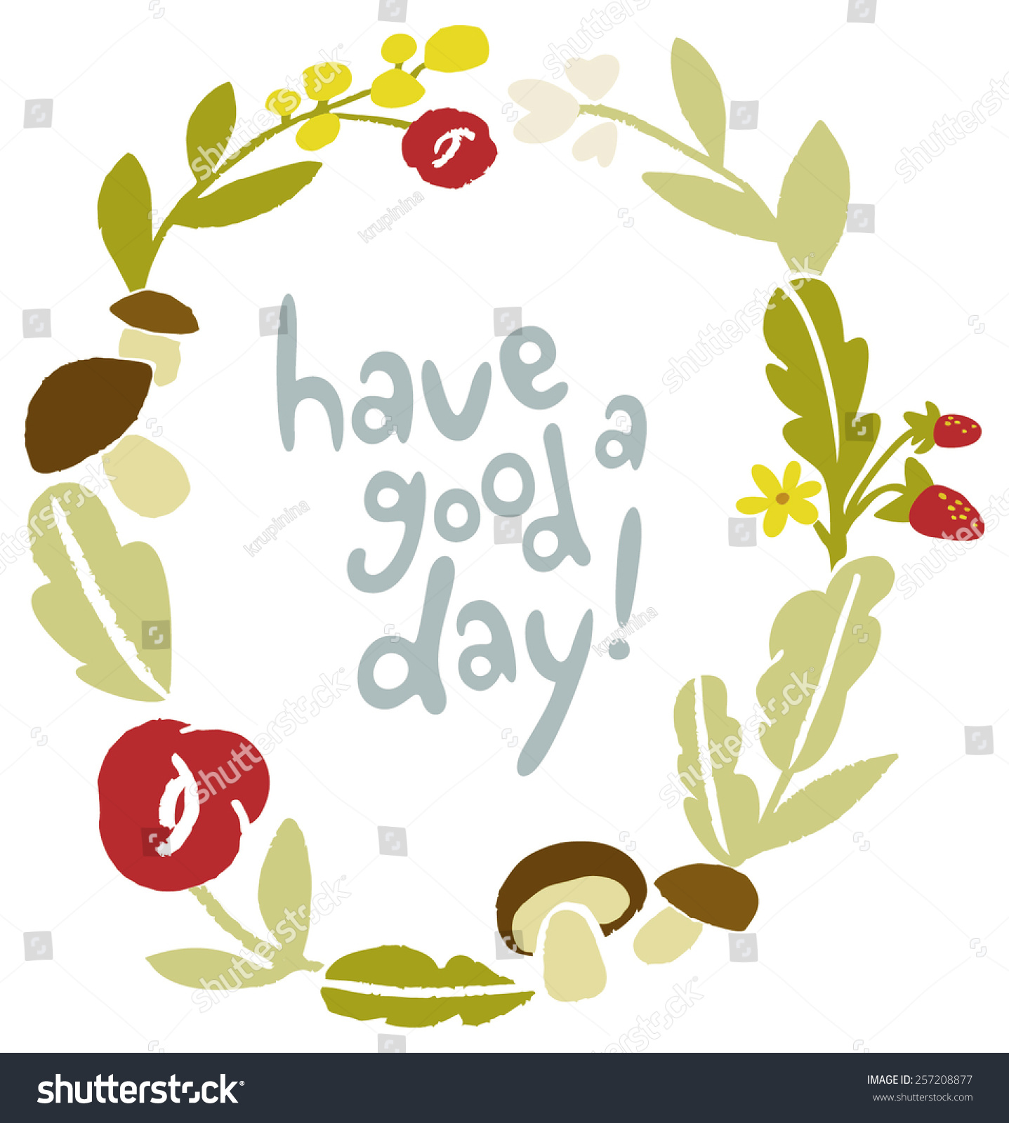 Have Good Day Nice Day Wishes Stock Vector Royalty Free 257208877