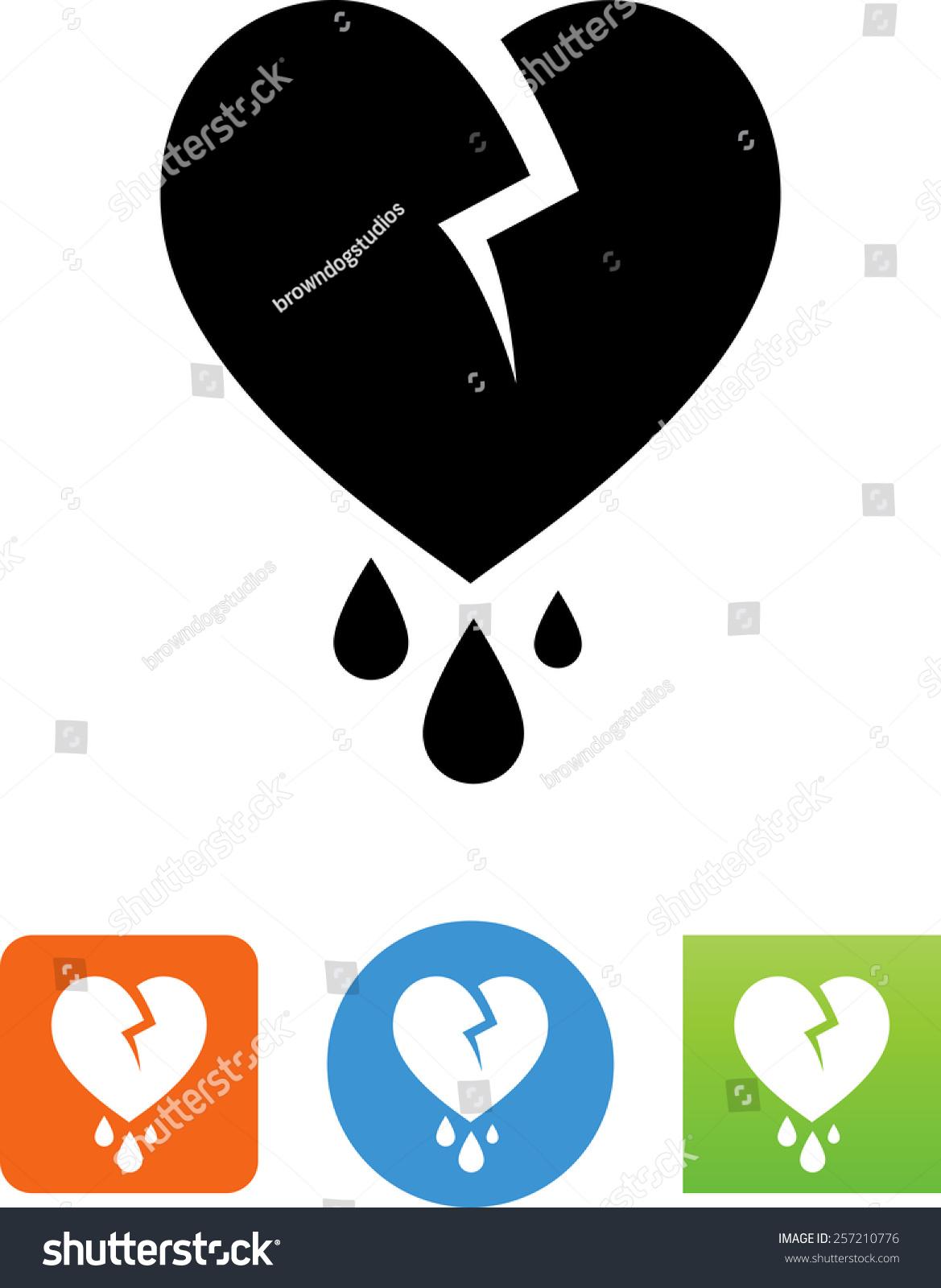 Bleeding heart icon stock vector 257210776 shutterstock bleeding heart icon buycottarizona